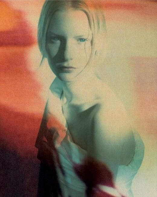 Kirsten Owen by Paolo Roversi, for Romeo Gigli S/S 1988