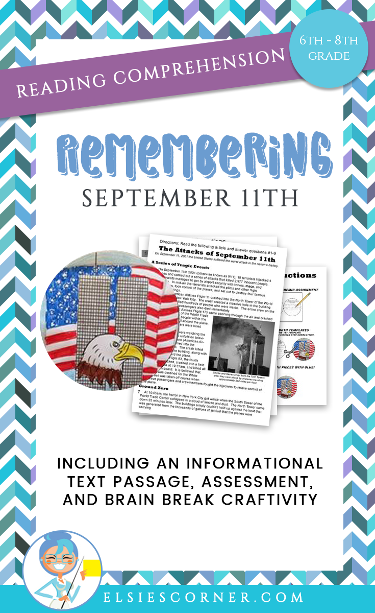 Have Students Learn About September 11th With This Informational Text Pas Reading Comprehension Reading Comprehension Passages Elementary Reading Comprehension [ 1200 x 735 Pixel ]