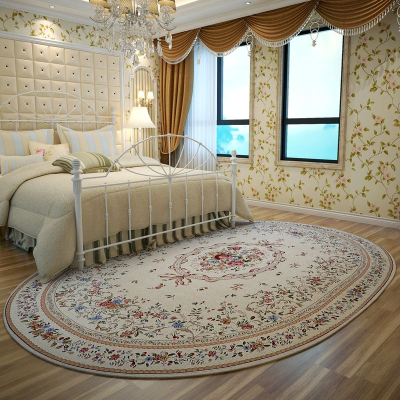 Interior Design American Pastoral Oval Rugs And Carpets For Home Living Room Warm Bedroom Floor Mat