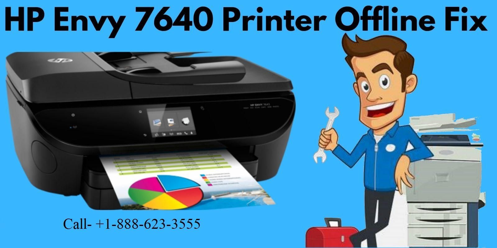 Easy way to troubleshoot your HP Envy 7640 Printer Offline