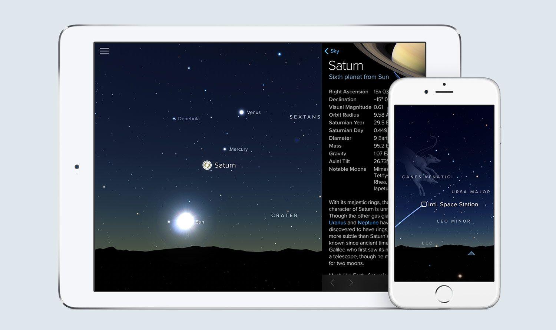 Sky Guide stargazing app