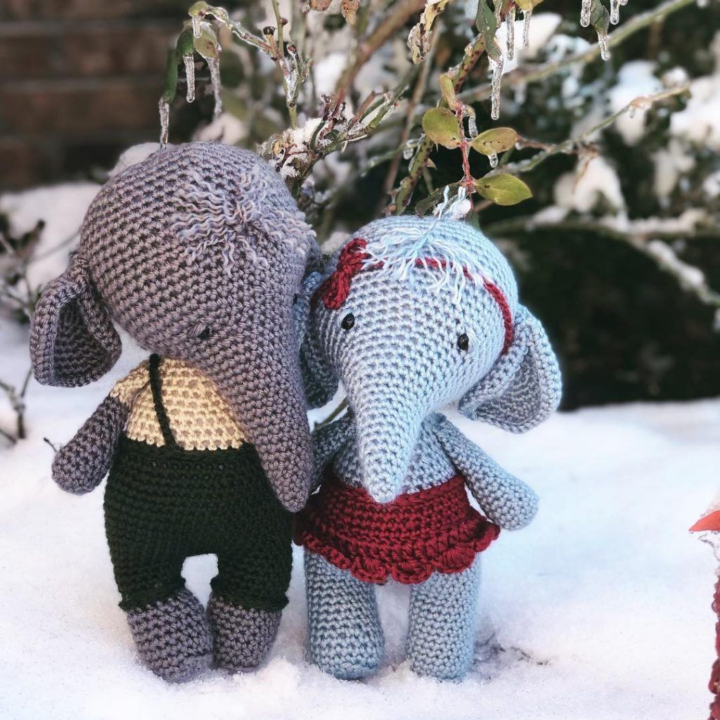 Amigurumi Crochet Elephant Free Pattern – Free Amigurumi Crochet #crochetelephantpattern