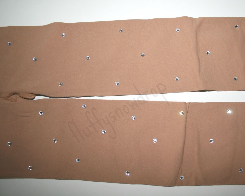** NEW*80 DEN INTERMEZZO  SKATING TIGHTS WITH CLEAR  CRYSTALS  COLOUR WARM