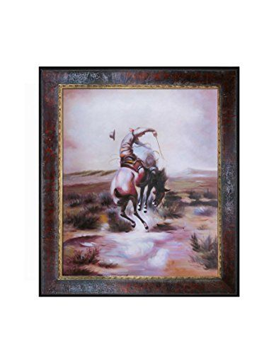 "Charles Marian Russell ""A Slick Rider"" Oil Painting"