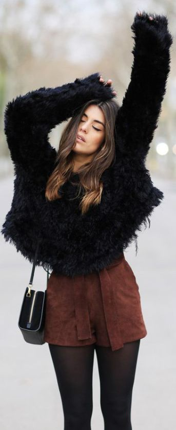 15 Fuzzy Sweater Outfits You Need This Winter - Society19 #sweateroutfits