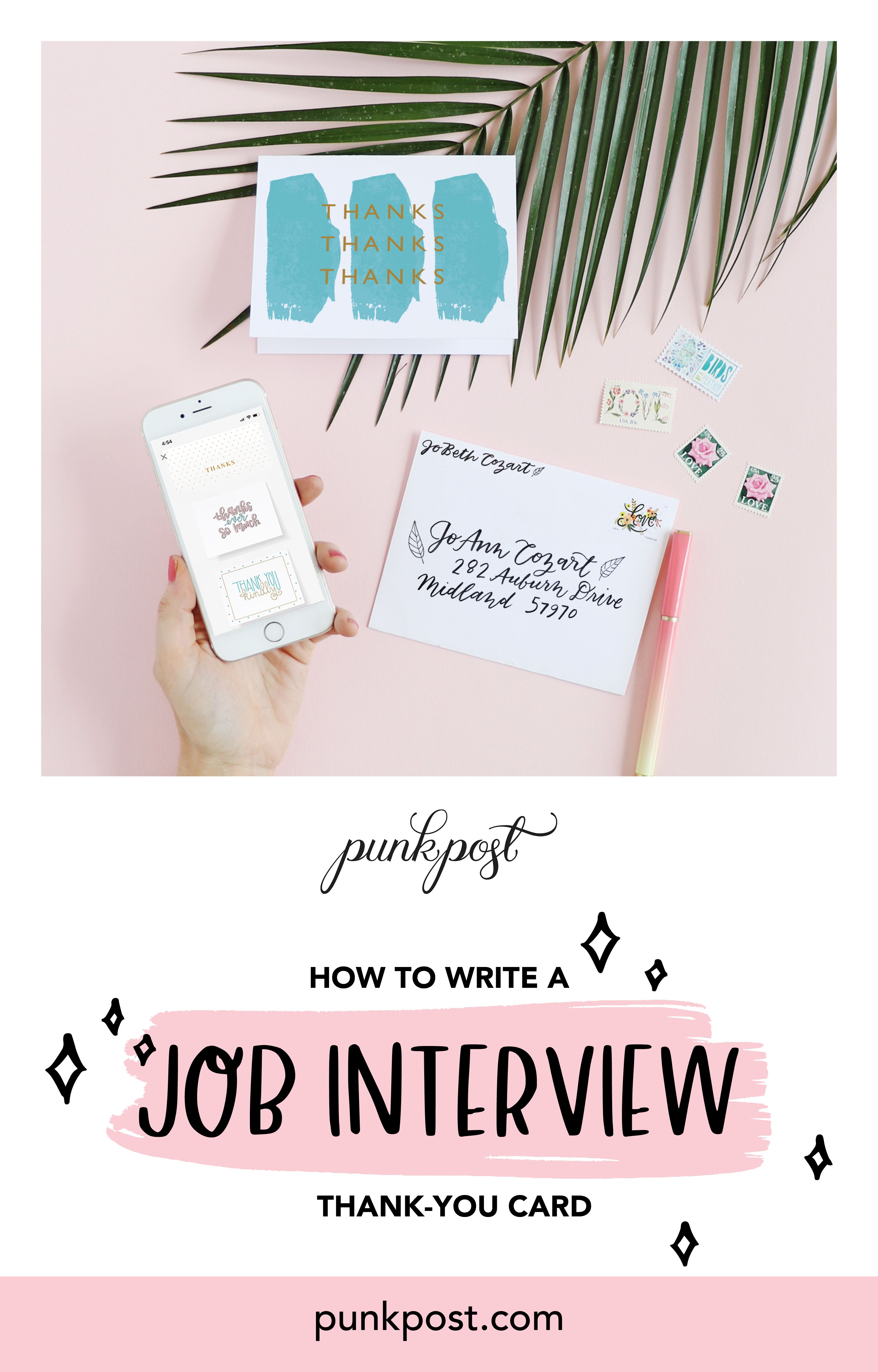 how to write a job interview thankyou card with images