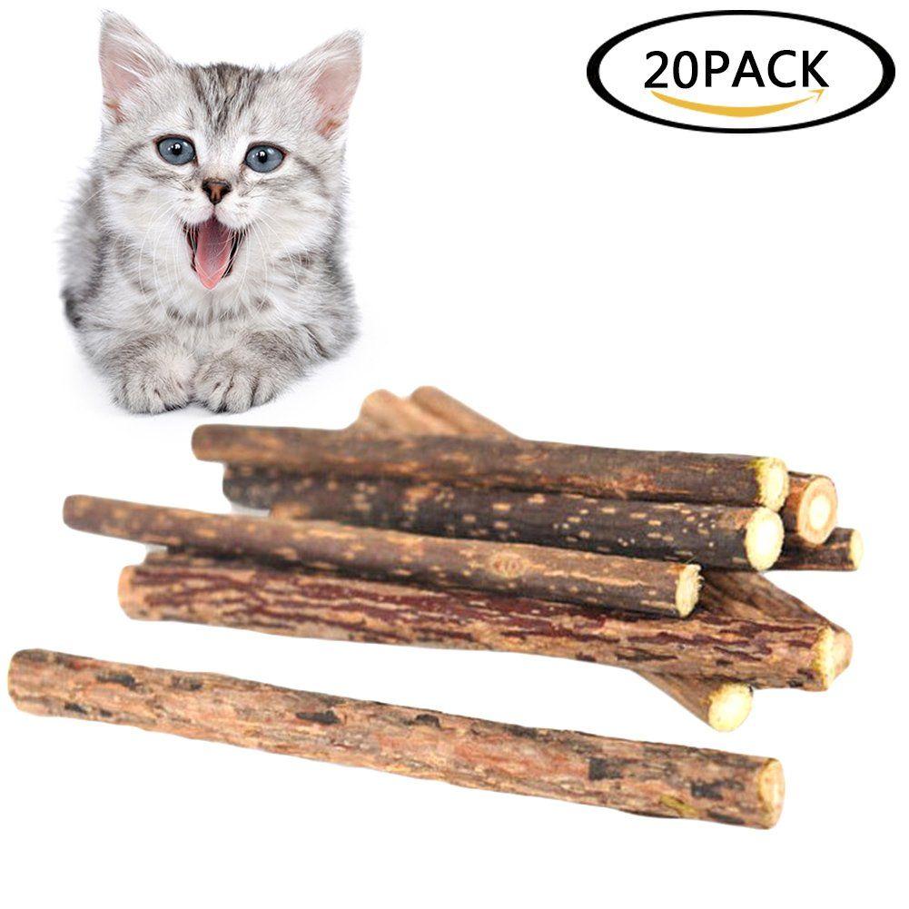 Havenport 20 Pcs Cat Chew Sticks Cat Teeth Toy Natural Matatabi Catnip Sticks For Dental Cleaning Increase Appetite We Do Hop Cat Treats Catnip Toys Catnip