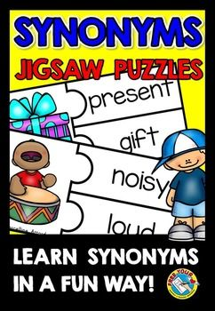 Synonyms Activities Matching Puzzles Game Synonym Activities Reading Comprehension Activities Literacy Center Activity