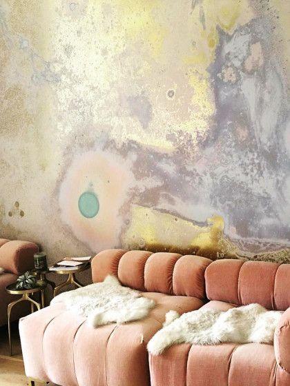 Marmorierte Tapeten: Wir Lieben Die Abstrakte Kunst An Der Wand In Unserem  Wohnzimmer!