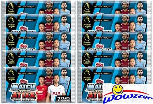 201819 Topps Match Attax English Premier League Soccer Collection of TEN10 Factory Seal