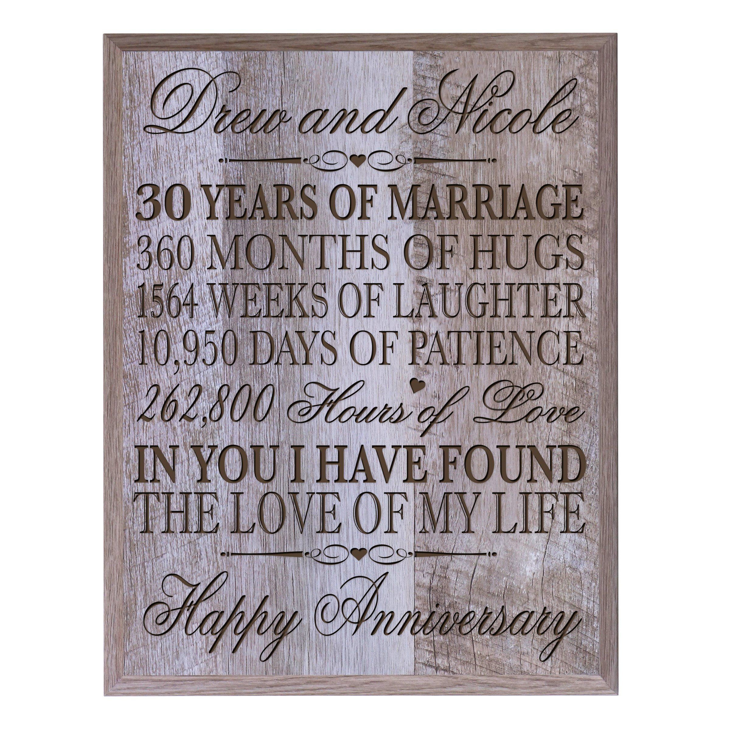 30th Wedding Anniversary Gift Ideas For Parents: Personalized 30th Anniversary Gifts For Him Her Couple