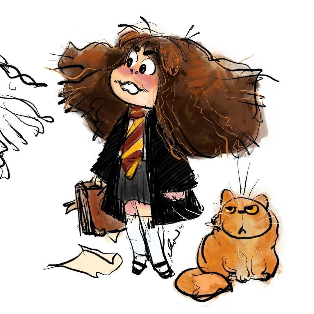 I Got Sorted Into Gryffindor Lately BOO Anyone Know If Theres A Dang Eyedropper Tool In Procreate Ipadpro Ipadpencil Hermione
