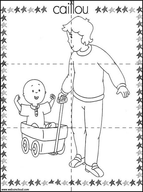 Puzzles Rompecabezas para imprimir para niños Caillou 2   MATERIALS ...