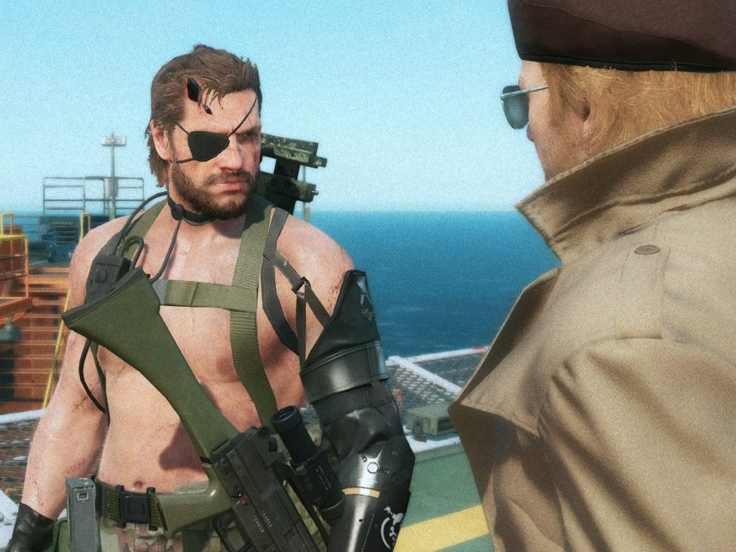 """Big Boss And Kaz áタルギア Ƽ«ç""""» We hold our rifles in missing hands. big boss and kaz メタルギア 漫画"""