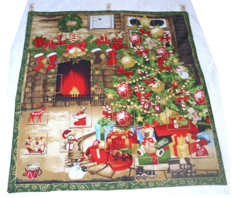Fabric Advent Calendar Under The Christmas Tree Advent