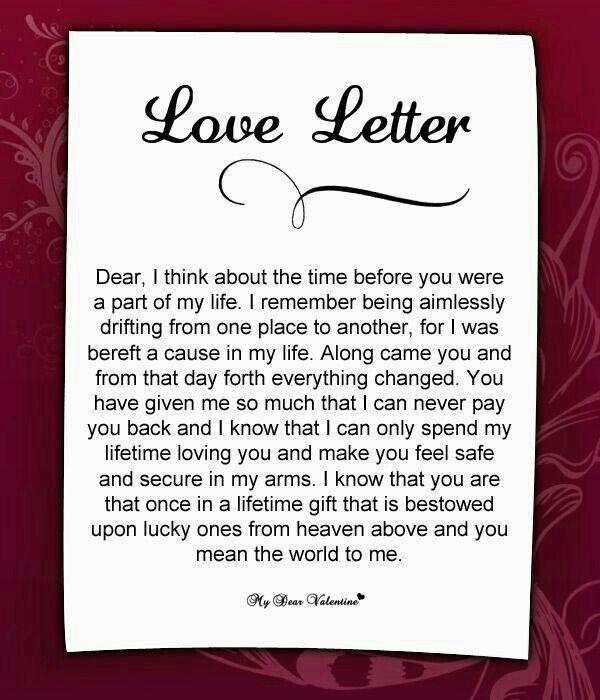 Love letter For my loves Pinterest