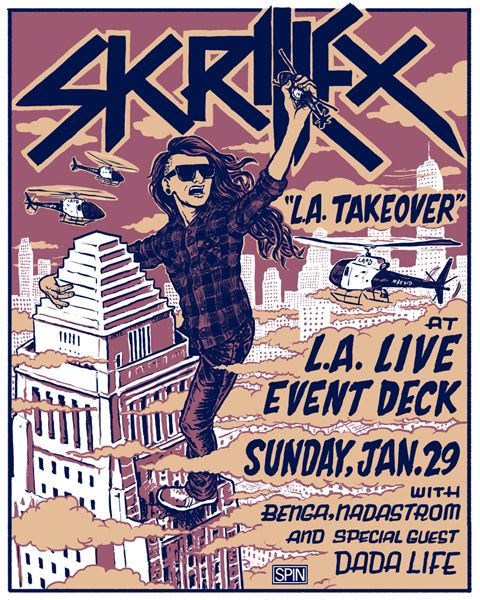 Band Poster Skrillex Skrillex Dada Life Band Posters