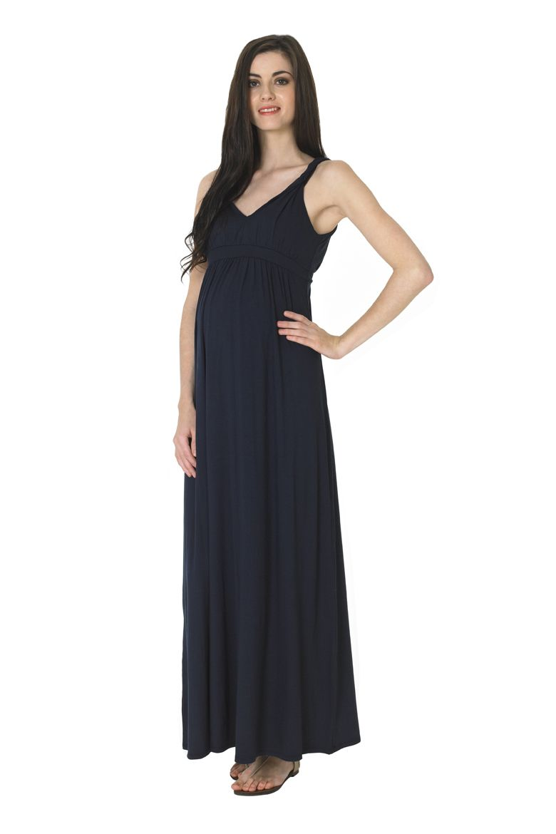 Blossomus sadie twist strap maternity maxi dress maternity
