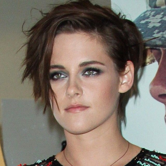 "New haircut! ""Edgy bob, custom made for Kristen to suit her youthful freshness"""