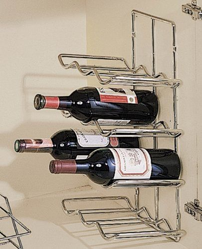 Wine Racks Chrome Wall Mounted Under Cabinet Mount Wine Rack 12