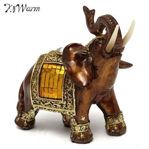 1Pcs European Style Ornate Golden Lucky Buddha Elephants Home Decor Gift Ornament Home Room Desk Decoration Gift - Hespirides Gifts