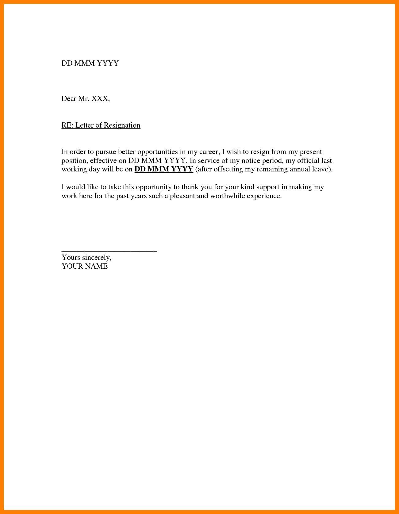 Valid Resignation Letter Sample Doc For You Resignation Letter