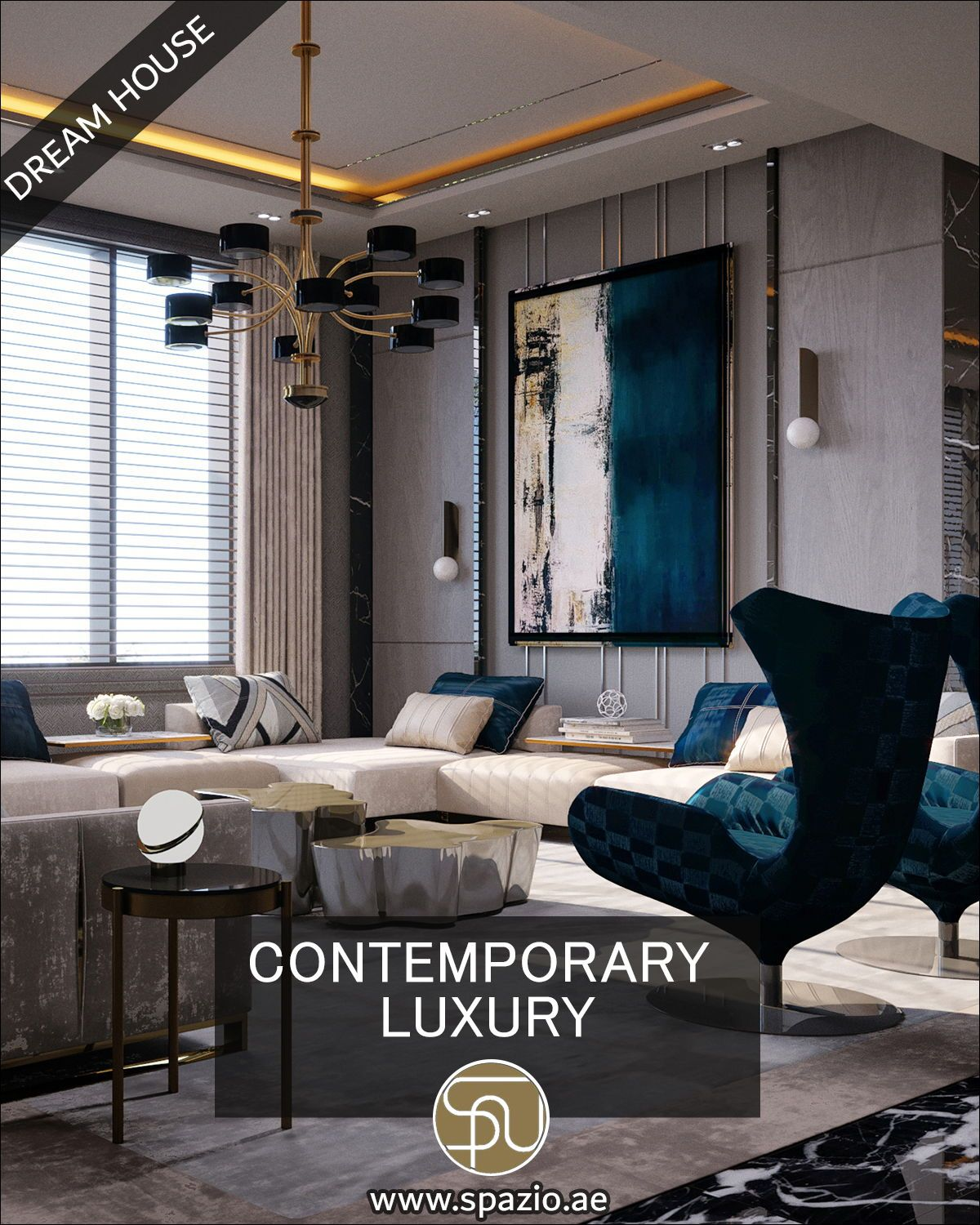 Contemporary Luxury Dream House Living Room Interiors From Sp