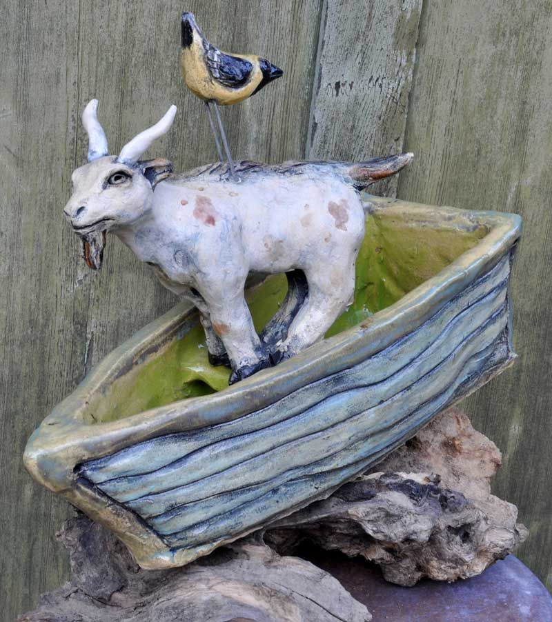 goat on a boat by mean pony garden by mean pony pinterest