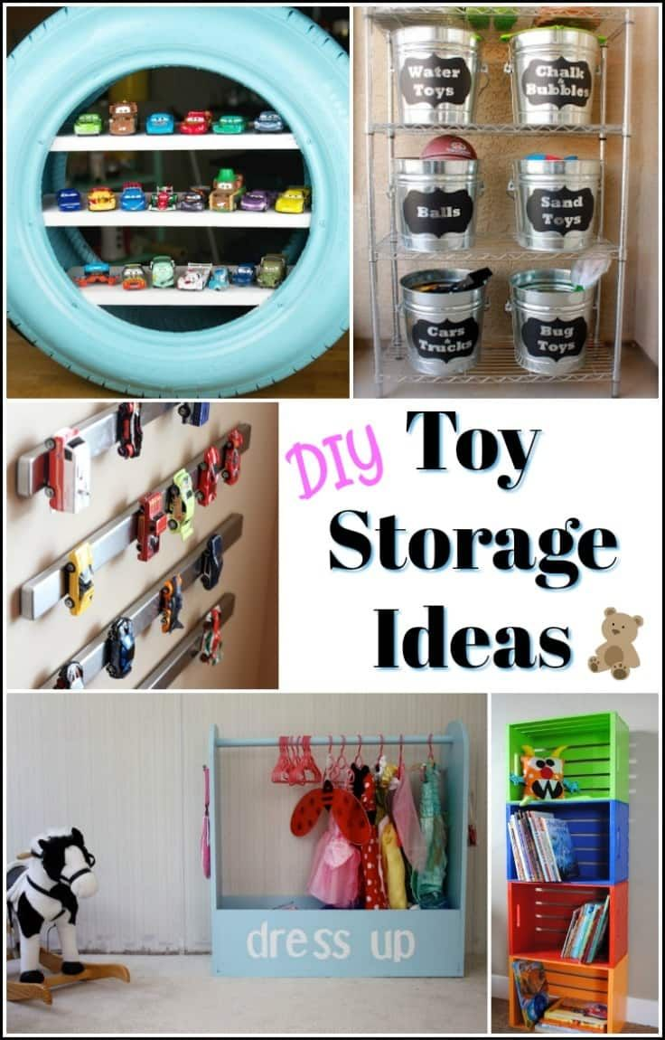 creative diy toy storage ideas to organize the kids mess on new garage organization ideas on a budget a little imagination id=54520