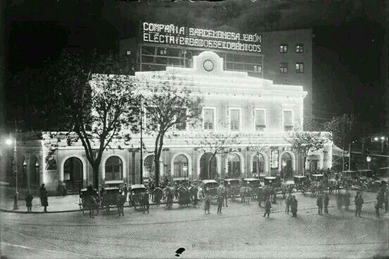 1920. Café Zurich a Plaça Catalunya de Barcelona