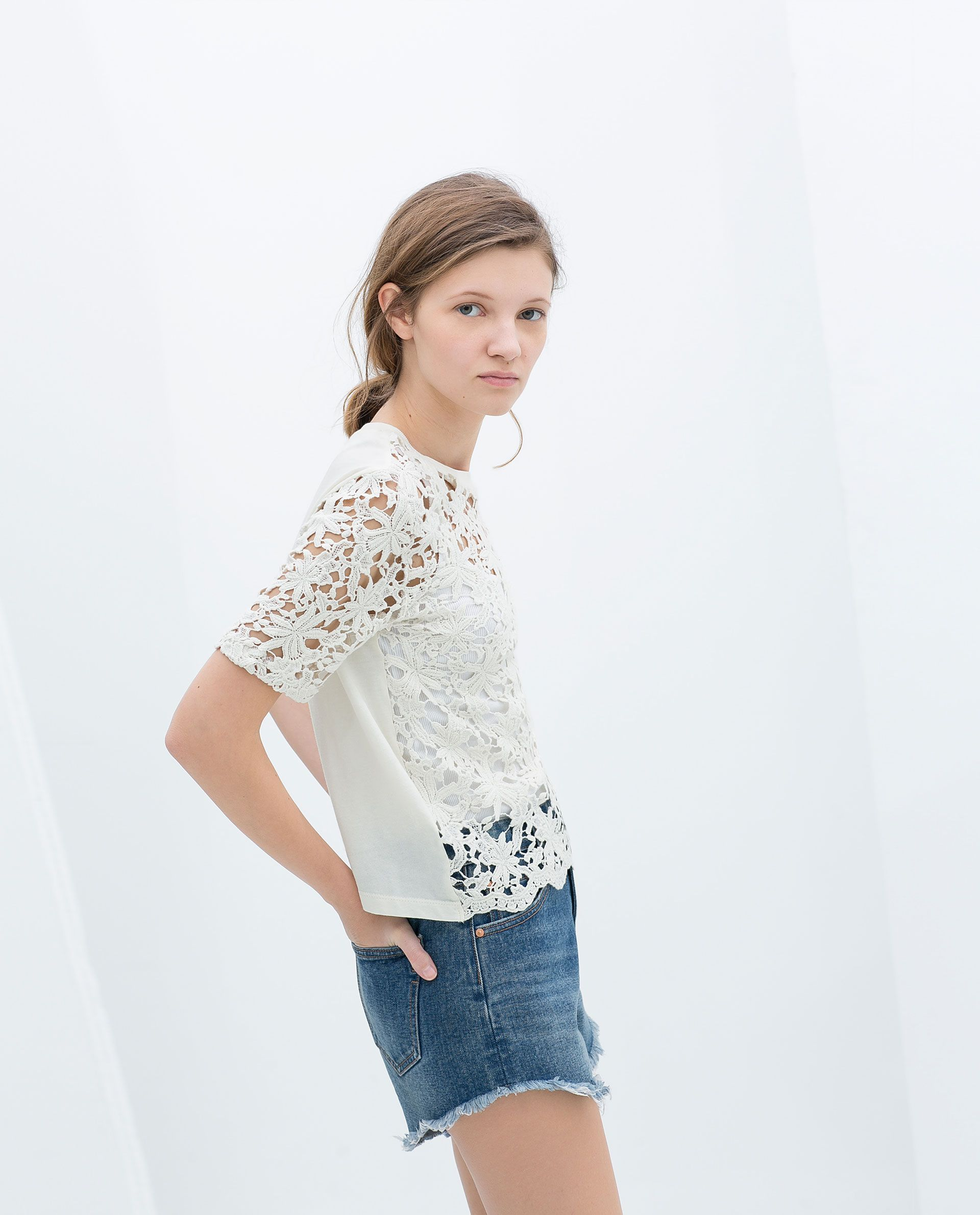 1501df356f9 CROPPED TOP - TRF - NEW THIS WEEK | ZARA Ukraine Lace Crop Tops, Blouse