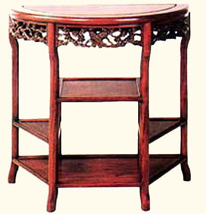 32 W Dragon Carved Chinese Half Moon Table Half Moon Table