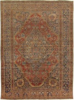 Antique Kashan Mohtasham 23455 Pasargad Carpets Sizes 10 2 X 13 6 Wool Area Rugs Area Rugs Rugs