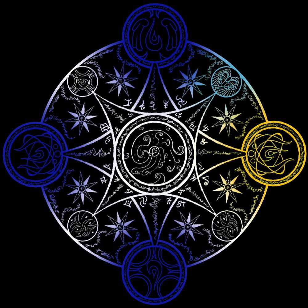 Spell circle creating life by celesta1805 on deviantart this is the design of the summoning circle from my previous submission the four circle on each side is the key to activate this circle then buycottarizona Image collections