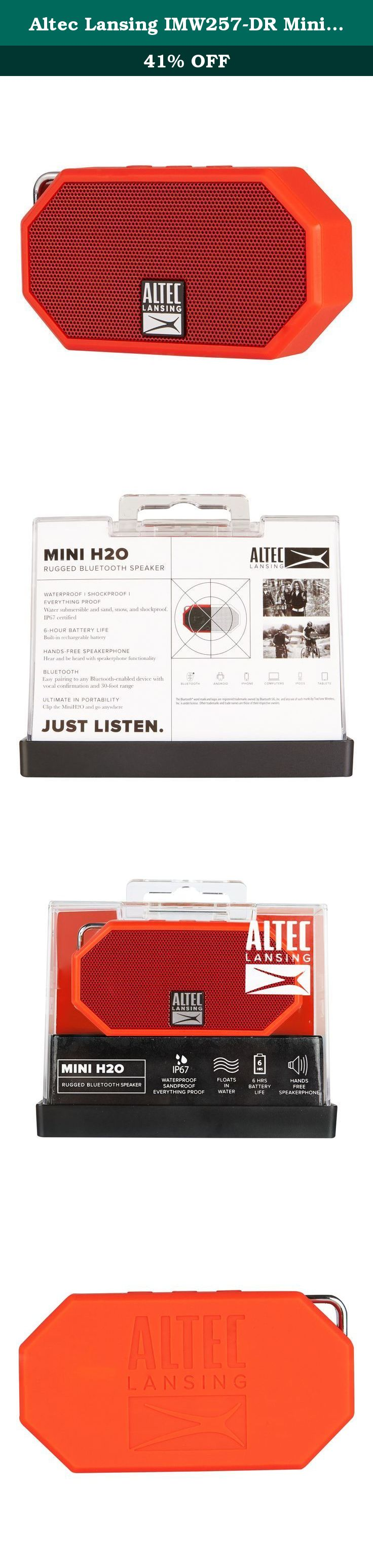 Altec Lansing Imw257 Dr Mini H2o Waterproof Sandproof Snowproof