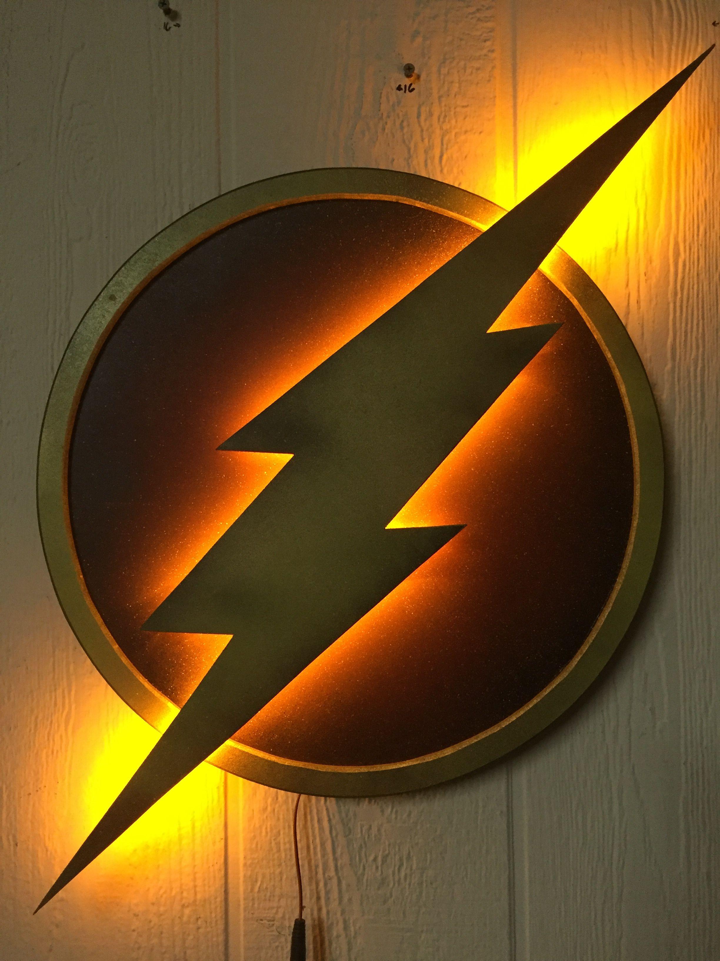 The Flash Logo Illuminated Wall Display Flash Wallpaper Flash Logo The Flash
