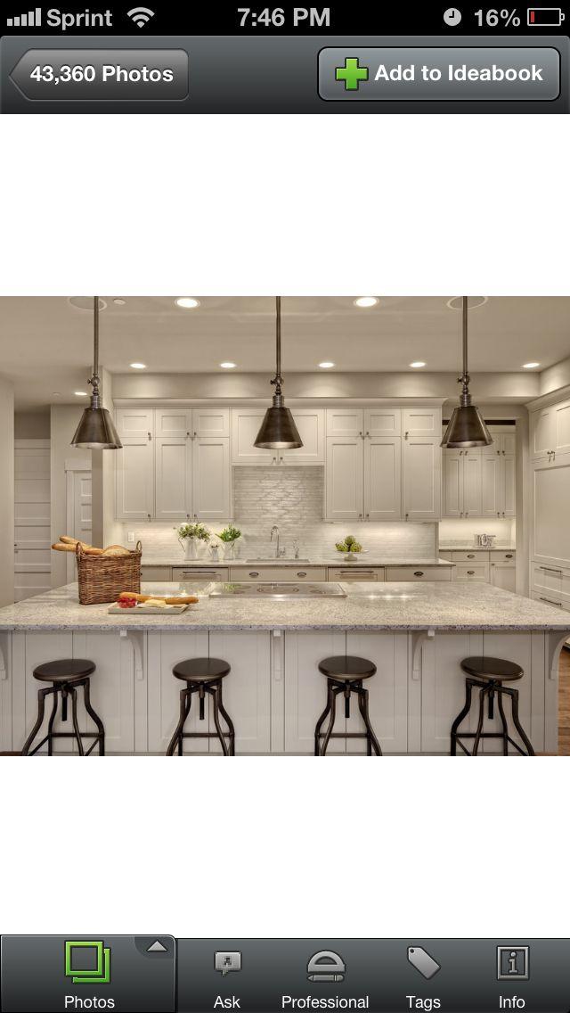 Best Houzz Like The Open Space White Kitchen White Kitchen 400 x 300