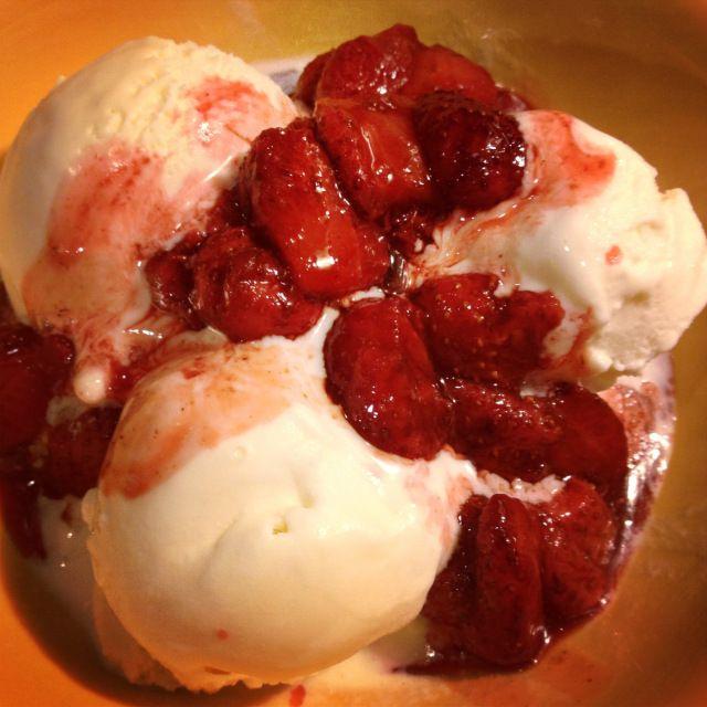 Berries and cream (use recipe index)