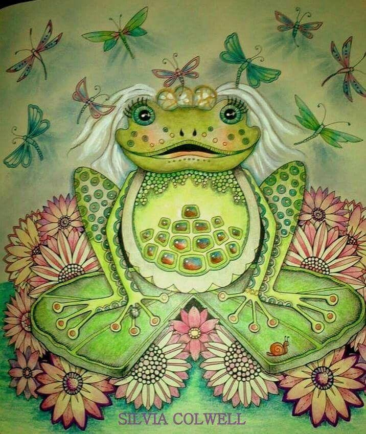 Frog Bride Secret Garden Enchanted Forest Coloring Book