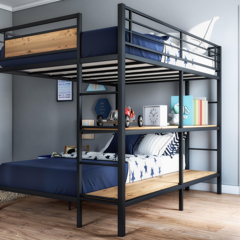 Better Homes Gardens Austen Full Over Twin Bunk Bed With Open Bookshelves Walmart Com Twin Bunk Beds Bunk Bed Rooms Loft Bunk Beds Twin mattress for loft bed
