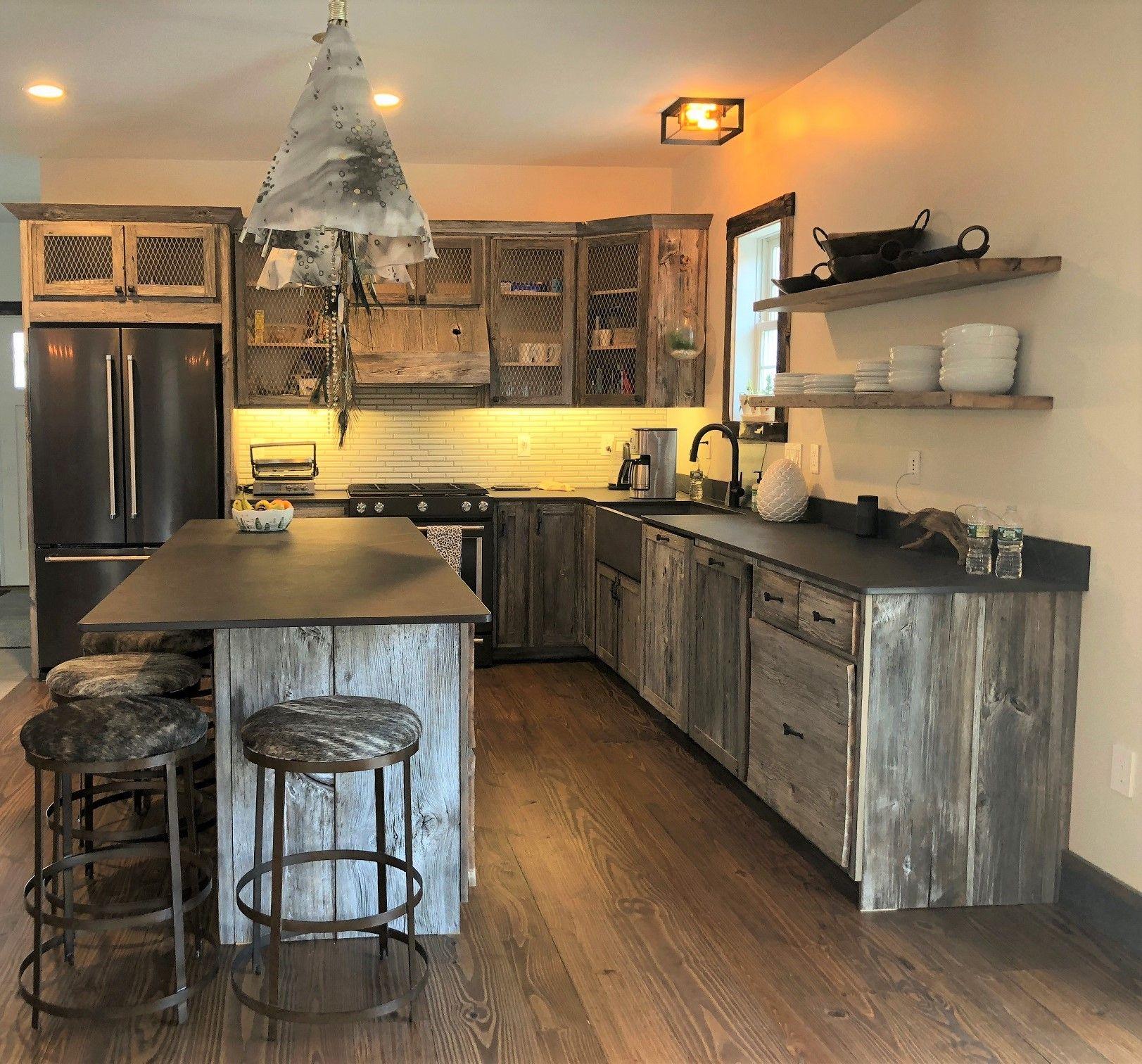 Gray Barnwood Kitchen Cabinets - Weathered Gray Barn Wood ...