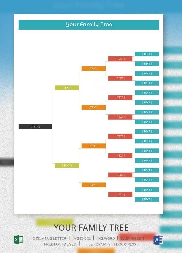 Family Tree Template FAMILY TREE Pinterest Family trees - blank family tree