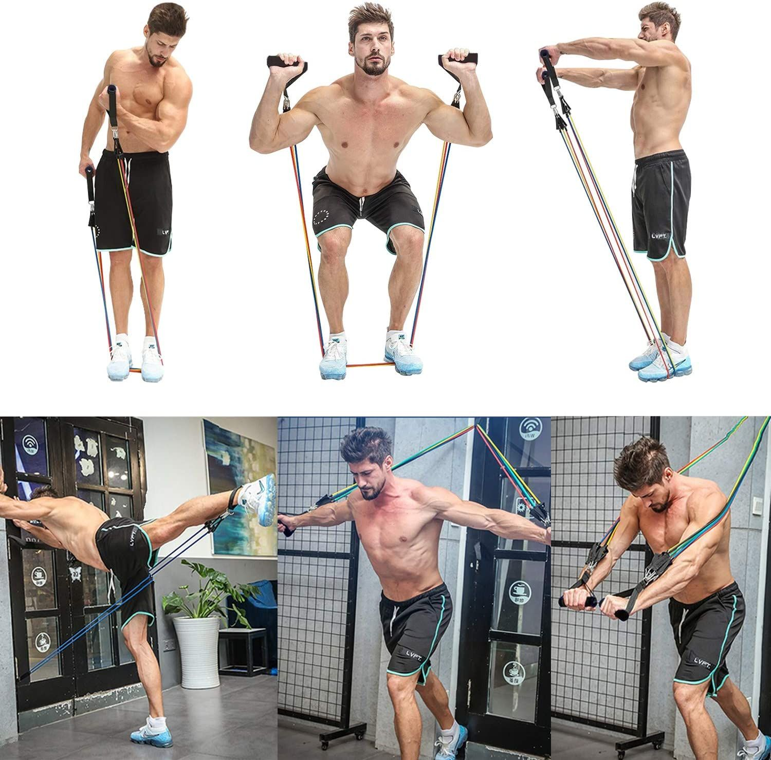 Resistance Bands Set Exercise Bands Band Workout Resistance Band Training Fitness Body