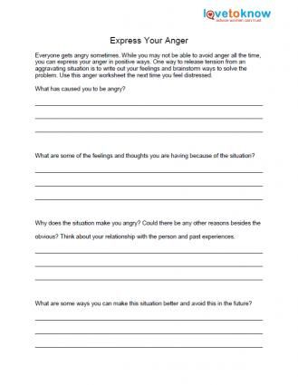 Free Anger Worksheets | Coaching and Psychological | Anger coping ...