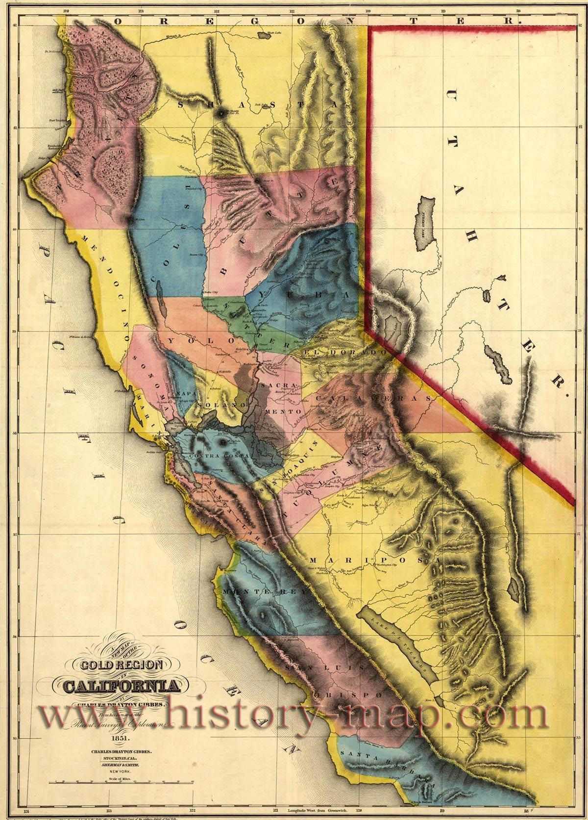 California Gold Map Gold Mines And Mining Bbes