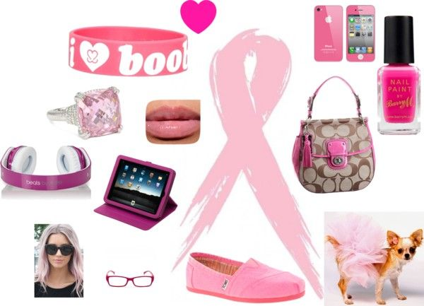 """""""Think Pink for the month of October"""" by lauren-weitzel on Polyvore"""
