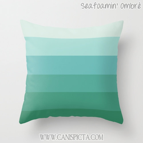 Ombre Throw Pillow 16x16 Graphic Print Cover Couch Art