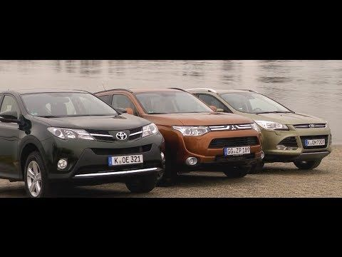 Toyota Rav4 Vs Mitsubishi Outlander Vs Ford Kuga Test Drive Youtube