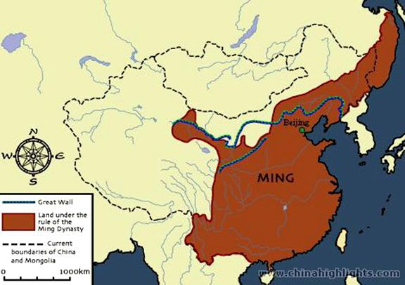 Modern Day China Map.Ming Dynasty Map This Map Shows The Land Of The Ming Dynasty 1368