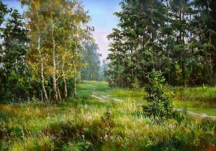 лес на картинах художников – 05